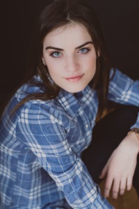 Maura Whitman blue flannel shirt