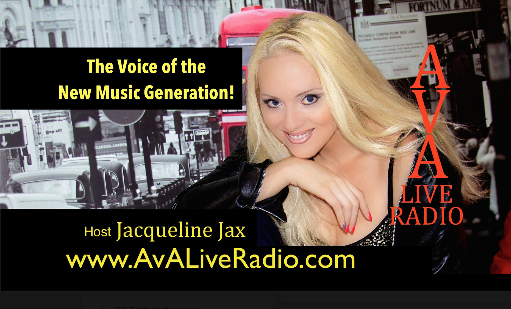 Episode #428: A.V.A Live Radio Behind The Music with Jacqueline Jax